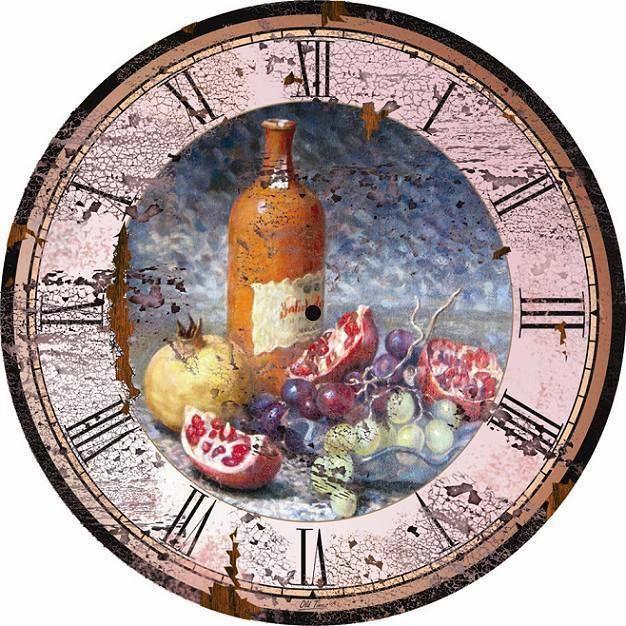 Схема вышивки «часы для кухни.» - Вышивка крестом