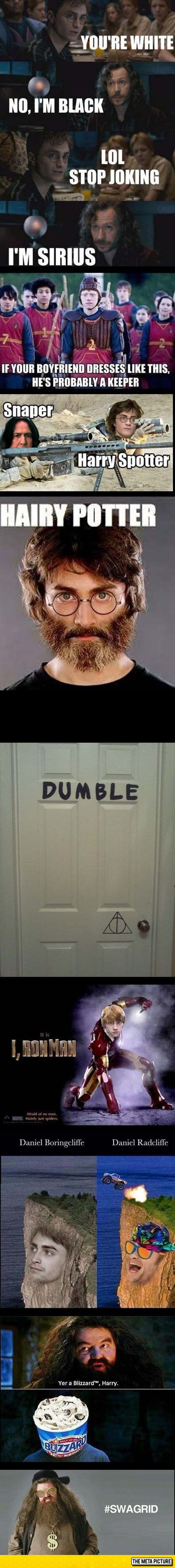 Harry Potter Puns - I didn't laugh until the last one.  You may have to follow it back to Metapicture to see it, tho.