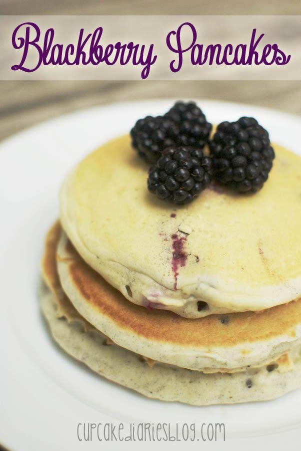 Blackberry Pancakes   cupcakediariesblog.com