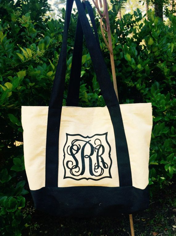 Hey, I found this really awesome Etsy listing at https://www.etsy.com/listing/237597258/monogram-tote-bag-personalize-tote-bag