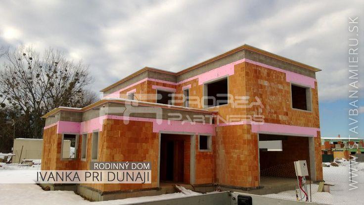Hrubá stavba hotová- rodinný dom v Ivanke pri Dunaji