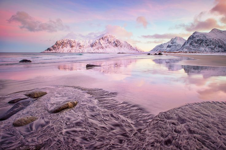 Skagsanden Beach - A wonderful morning at Skagsanden Beach in Norway. Just breathtaking this wonderful colors!