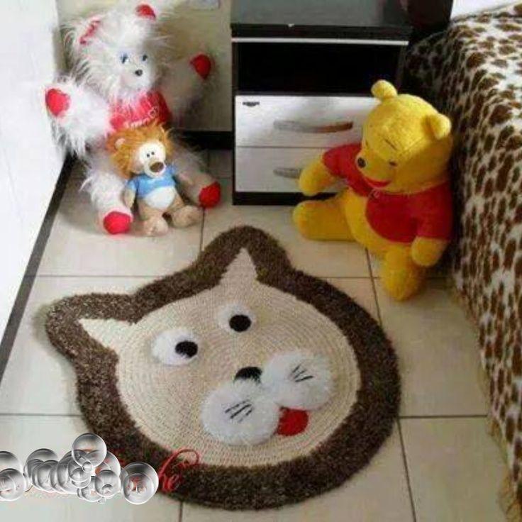 Alfombra oso tejida para cuarto bebes alfombras pinterest - Alfombras antiacaros ninos ...