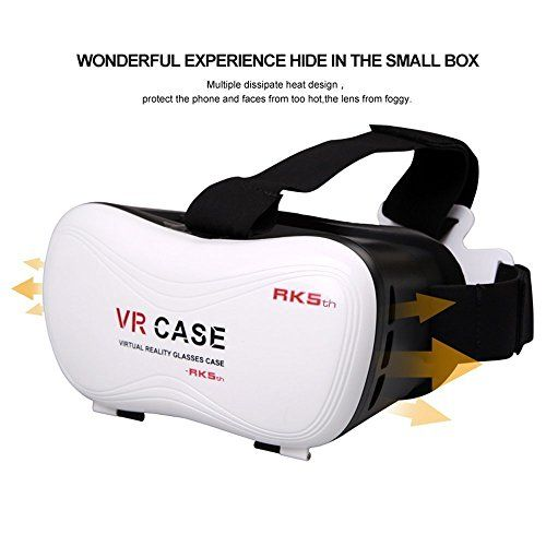 Vanilia VR Headset Virtual Reality 3D Glasses Helmet Ajustable VR Case Box for iPhone 66S6S plus Samsung Galaxy S7 S6 S5 Smartphones *** Want to know more, click on the image.Note:It is affiliate link to Amazon.