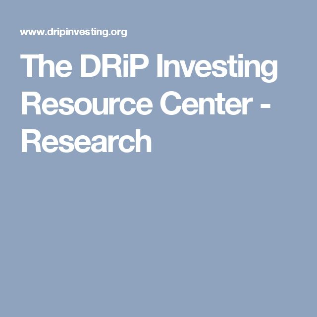 The DRiP Investing Resource Center - Research