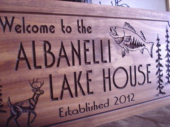 Adress Wood Sign