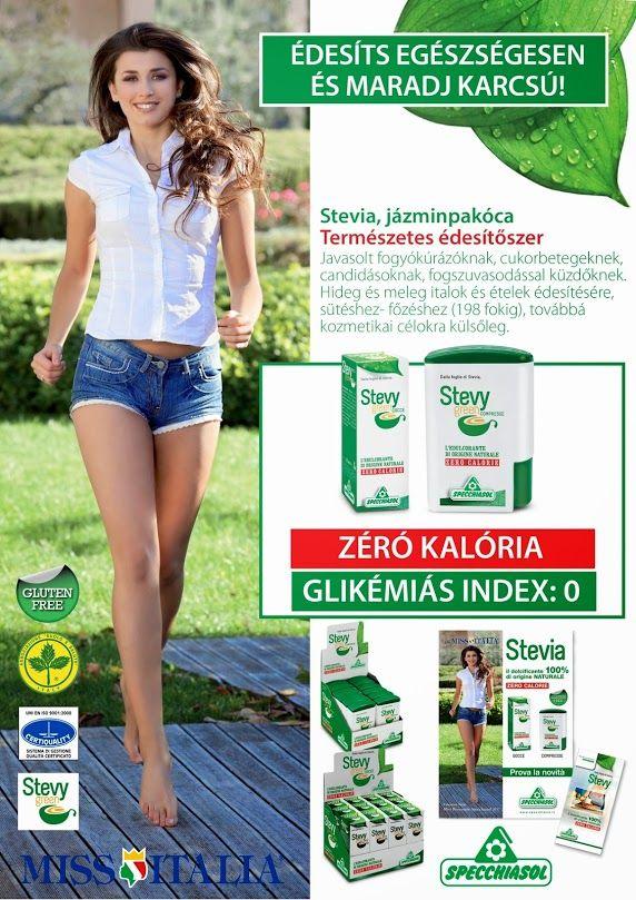 A Stevia természetes édesítő, amely nem emeli meg a vércukorszintet, nem emeli meg a vérnyomást, serkentőleg hat a májra és a hasnyálmirigy működésére. Javasolt fogyókúrázóknak, cukorbetegeknek, candidásoknak, fogszuvasodással küzdőknek.