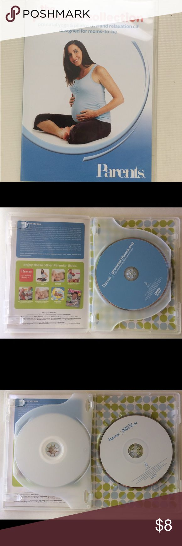 Prenatal Yoga & Pilates Dvd and Relaxation CD. For moms-to-be prenatal yoga and pilates dvd. 80 minutes video. Cd music offers 50 minutes of gentle instrumental music with soothing sounds of nature in the background. Other