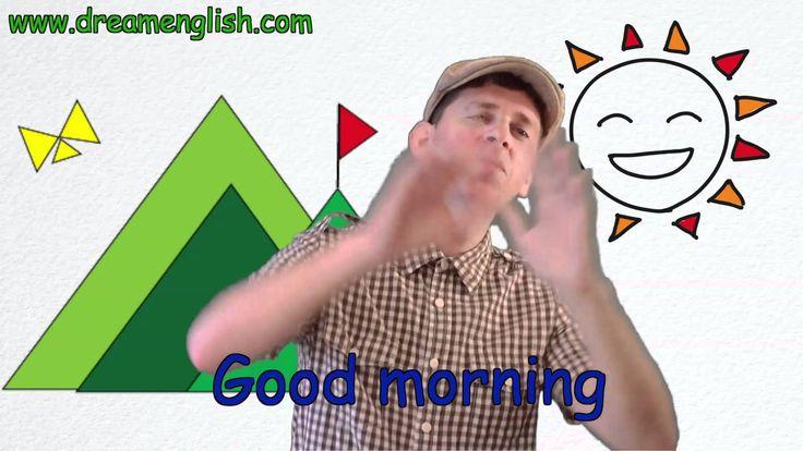 Liedje voor kleuters: Goedemorgen, met beweging (Engels)