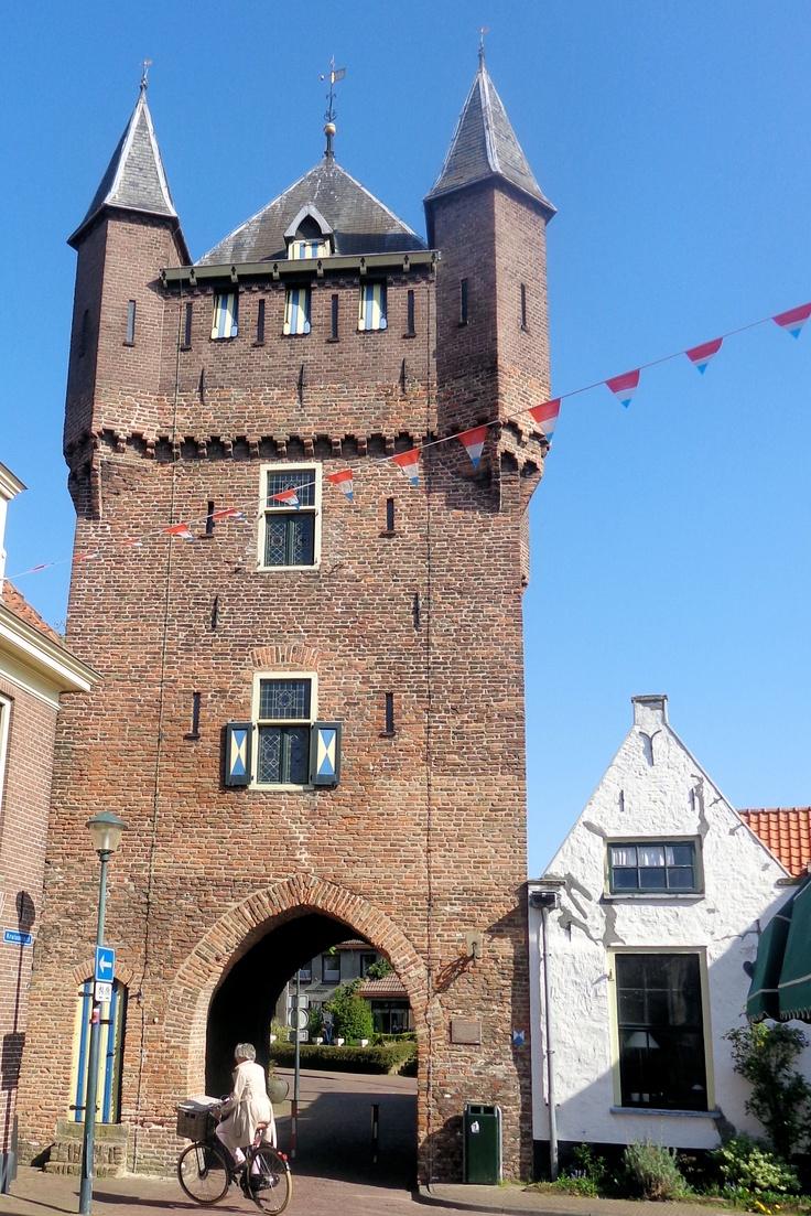 Van de verdedigingswerken van Hattem is nog een deel van de muur en één stadspoort over. De Dijkpoort, gebouwd in 1400, ziet er met zijn blauwgele luikjes met vier torentjes prachtig uit. Het puntdak dateert van een restauratie uit 1909 door P.J.C. Cuypers. Het witte huisje rechts tegen de Dijkpoort was de ambtswoning van de stadsvroedvrouw. Nog steeds wordt het huisje het vroedvrouwenhuisje genoemd.