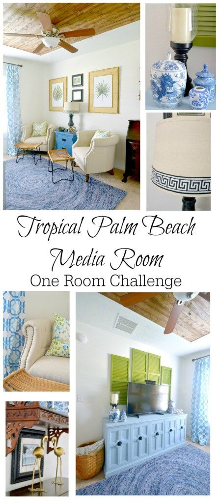 the media room reveal one room challenge decor craftsdiy home decorcoastal - Diy Beach Decor