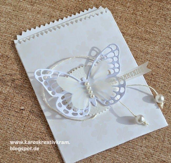 Karos Kreativ Kram: Schmetterlingsinvasion - nicht nur zur Kommunion :...