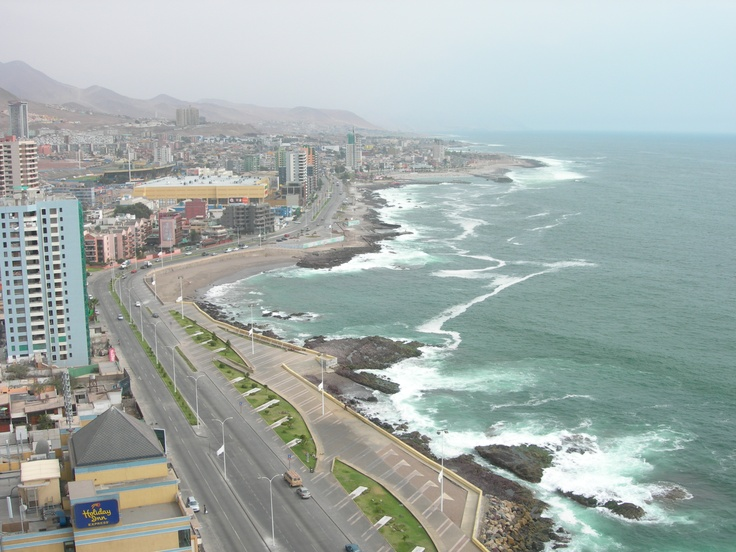 View from our balcony. Antofagasta, Chile