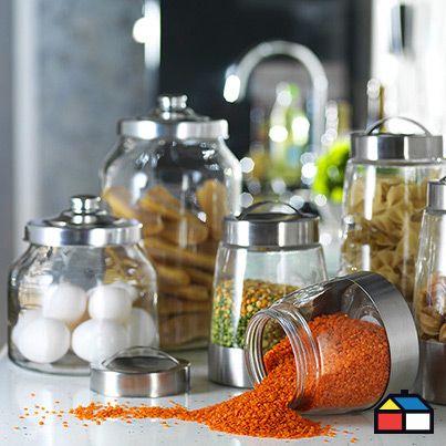 Además de decorativos, estos prácticos frascos te ayudarán a guardar todos tus ingredientes ordenados #Cocina