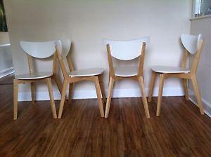 Dining chairs: NORDMYRA Chair, white, birch