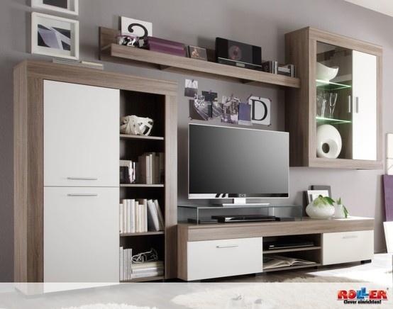 Wohnwand BELA: mit modernem Design und indirekter Beleuchtung ist ...
