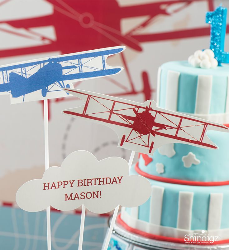 Soar To New Heights With An Airplane 1st Birthday Party