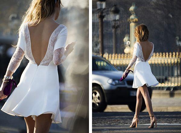 rime arodaky #short #white dress