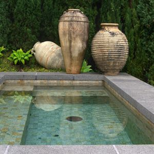 .This is the perfect pool- just deep enough to sit on the edge and dip your feet.