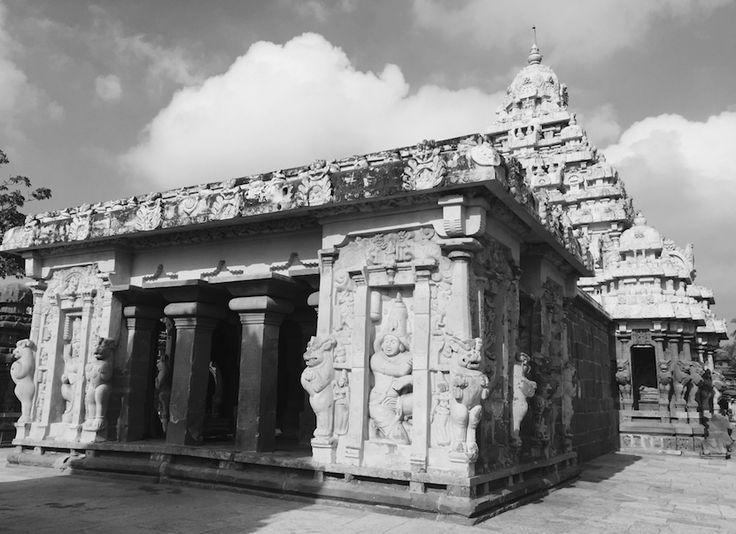 Kailasanathar temple in Kanchipuram, Tamilnadu, India set a benchmark for temples build in South India- Pallava dynasty Dravidian masterpiece.