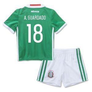 16-17 Mexico Soccer Team Home Replica Shirt Kids Kit  18 A. GUARDADO  E323  236d91044