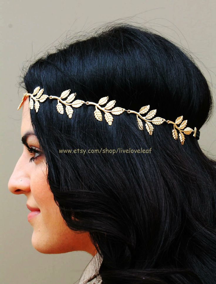 On SALE Gold Leaf headband Greek leaf chain with black elastic band by LiveLoveLeaf #hair #hairstyle #hairdo #hairchain #hairchains #headchain #headpiece #headband #headdress #fashion #hairjewelry #haircandy #hairbling #hairaccessory #hairaccessories #hairjewelry #jewelry #jewellery #gold #goldleaf #goldleafheadband #promhairstyles #homecoming