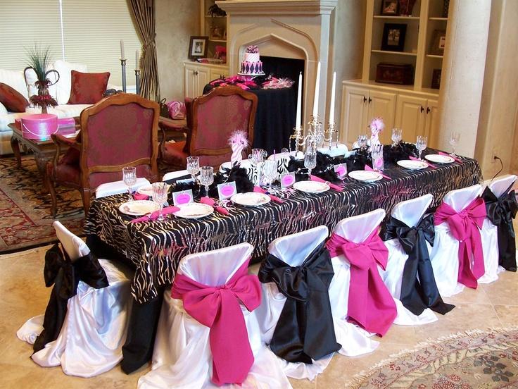 101 best zebra weddings images on pinterest zebra wedding pink zebra party table junglespirit Gallery