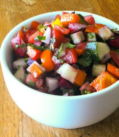 Simple, Clean, and Homemade · Fresh, Raw, Chopped Salad