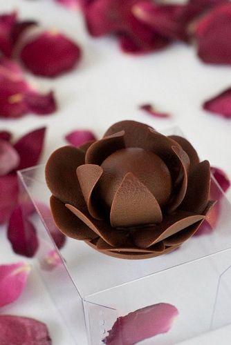 Ideias de Lembrancinhas de Casamento - rosa de chocolate