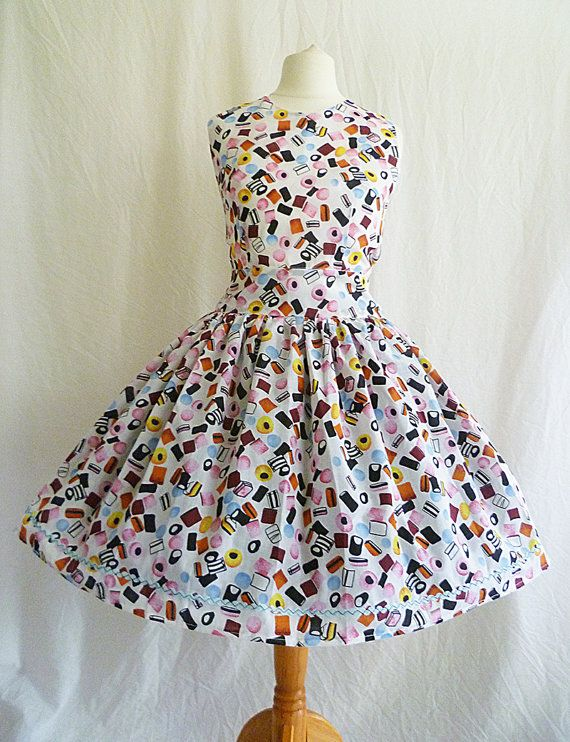 Liquorice All-sorts Dress Candy Print Dress by RoobyLane on Etsy