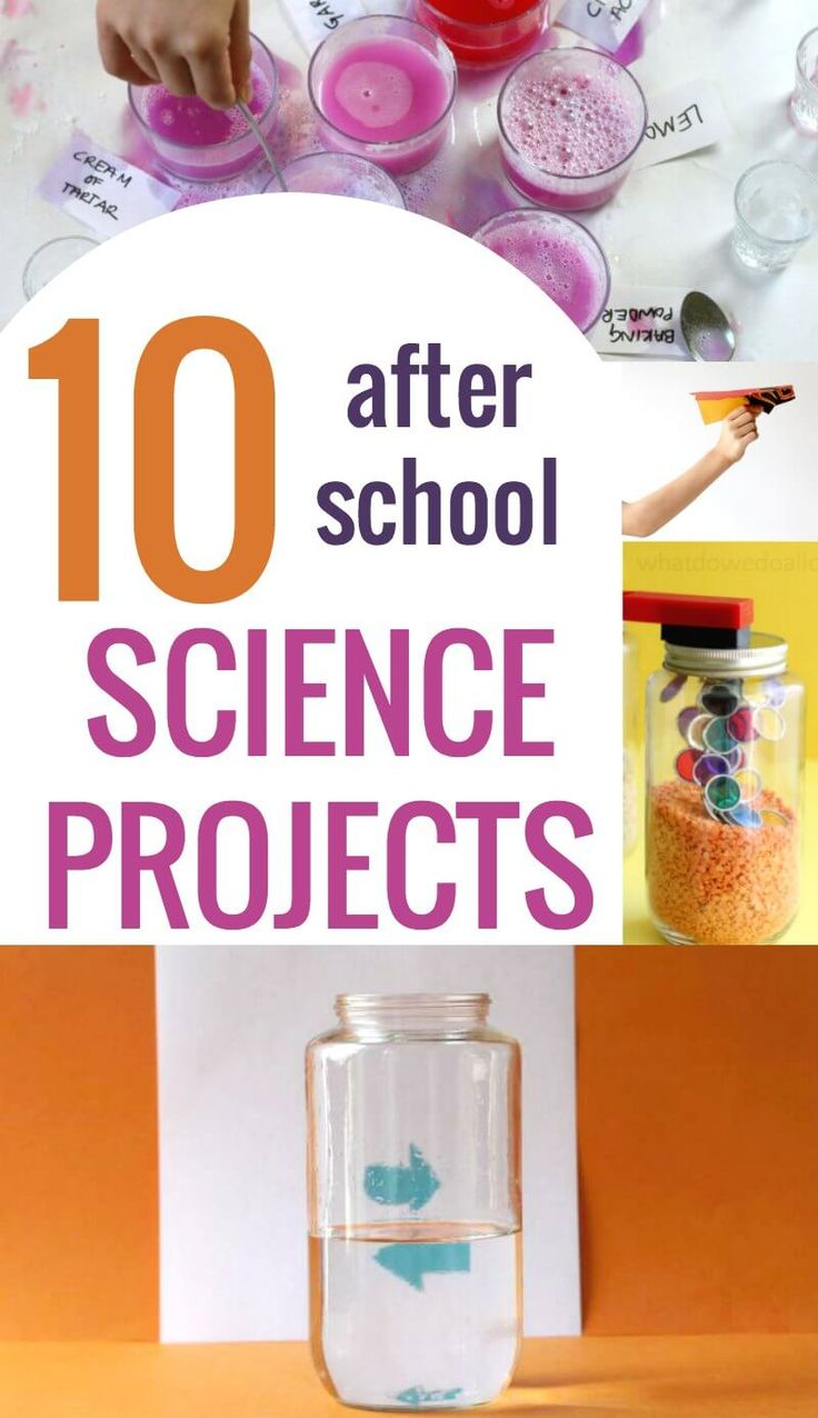 East after school science projects and experiments that are quick to set up.