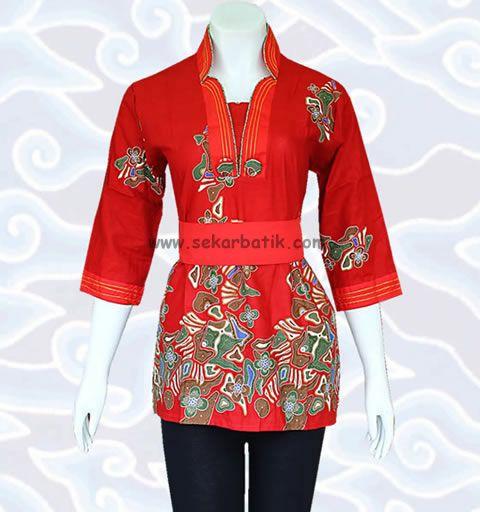 blus batik kerja murah online BB29 di koleksi http://sekarbatik.com/blus-batik/