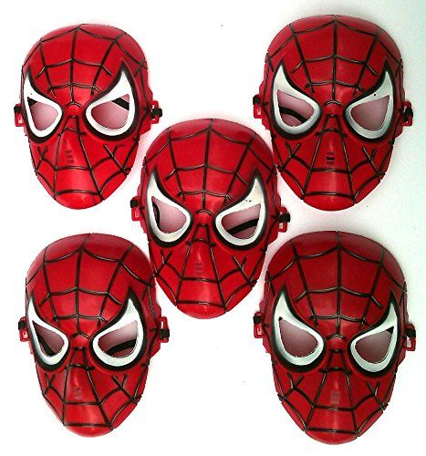 Toy! Mask 5 Piece  Spiderman Dress up & Pretend Play @ niftywarehouse.com