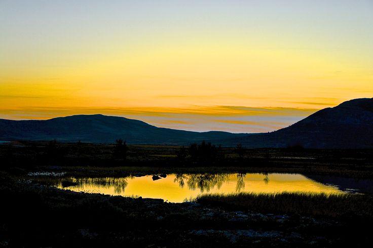 Solnedgang på Venabygdsfjellet.