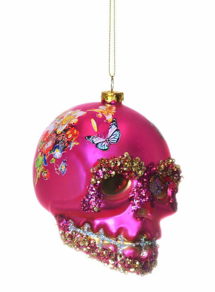 Sublime Skull Ornament in Pink by One Hundred 80 Degrees | | PLASTICLAND
