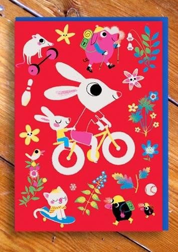 Marc Boutavant's new range of cards for 1973  Kickcan & Conkers: Children Stuff, Marc Boutav, Illustrations Inspiration, Bicycles Postcards, Children Illustrations, Graphics Design, Boutav Ansichtkaart, En Minis, Boutav Cards