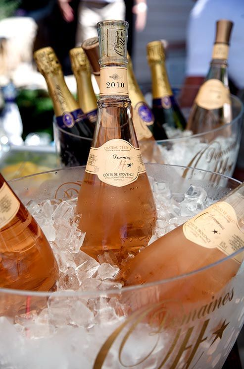 Selection of Domaines OTT Château de Selle Côtes de Provence Rosé and Nicolas Feuillatte Champagne on ice, ready to be enjoyed by all.