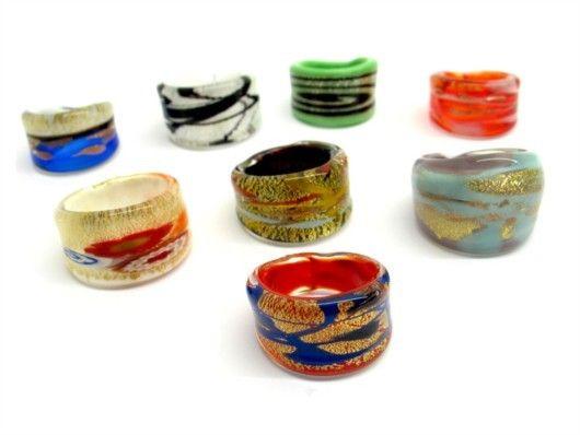 $19 Italian Murano Glass Ring, info@bijuterie-online.ro