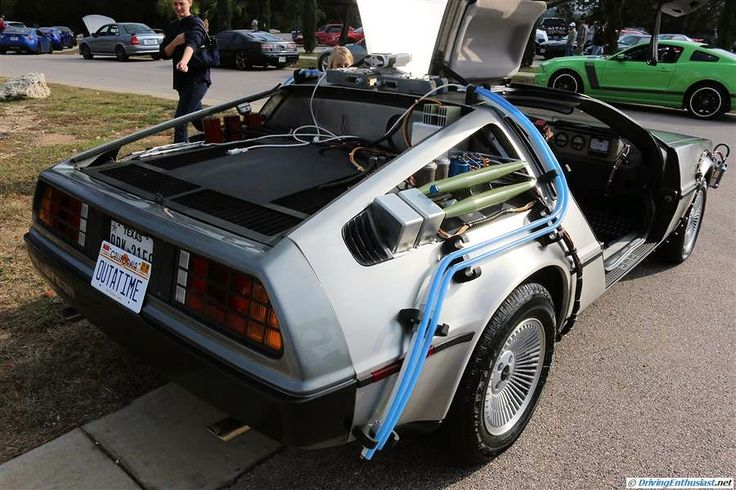 Delorean with BTTF modifications. As seen at the December 2014 cars and Coffee event in Austin TX USA.