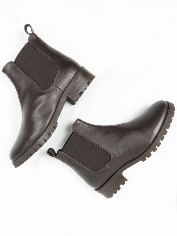 Vegan womens Chelsea boots in dark brown by Will's Vegan Shoes