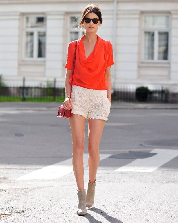 street style. Texture and color #orange