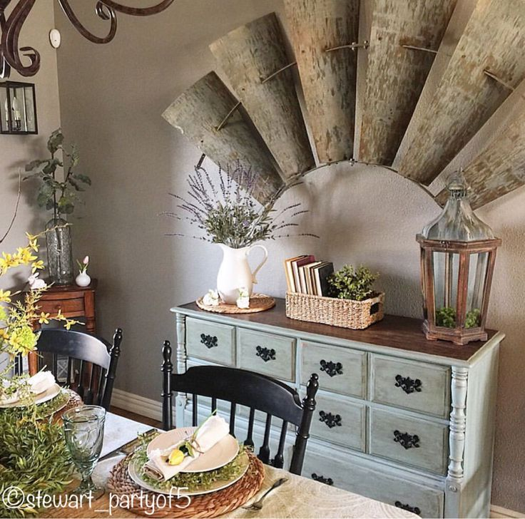 Old Rustic Half Windmill Decor Dining Room Great Decorating Idea For Farmhouse Modern Country Fixer Upper And Cottage