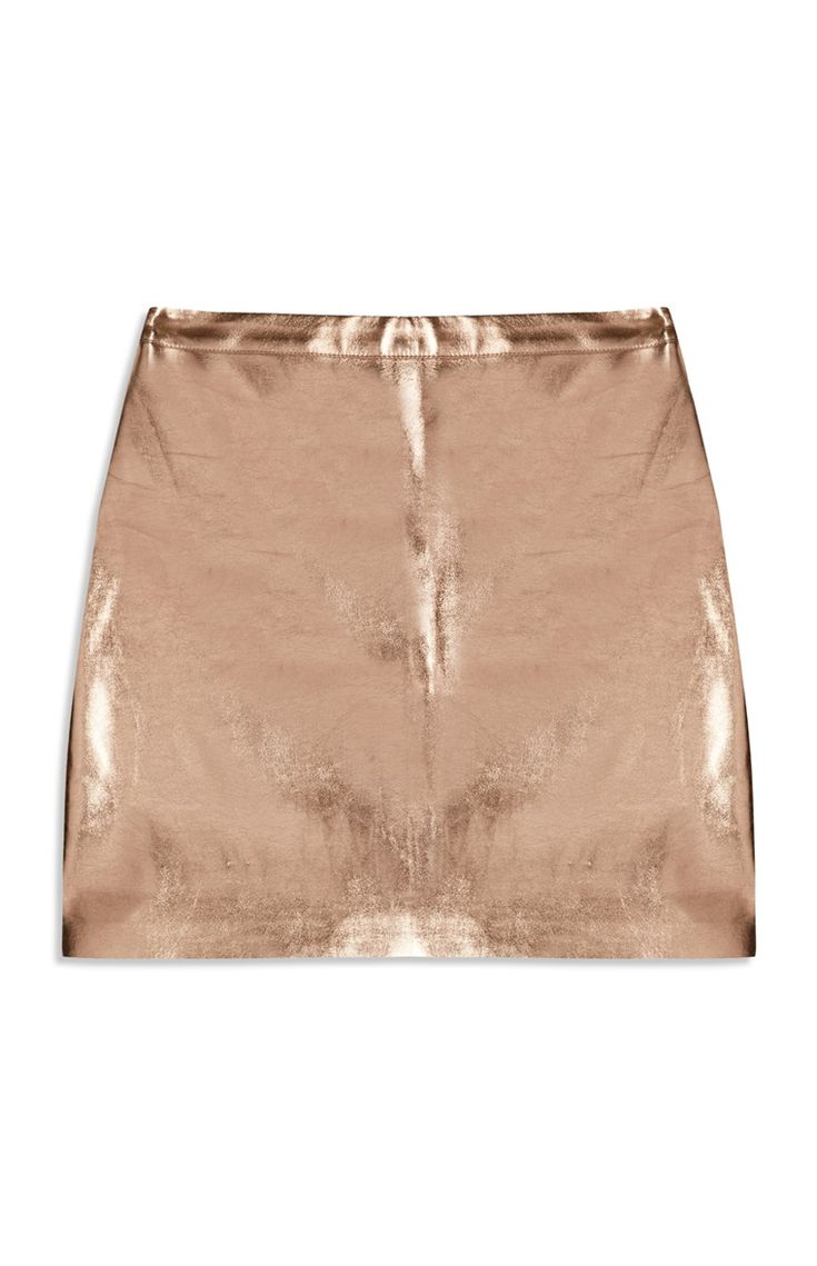 Primark - Foil Metallic Gold Skirt