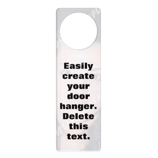 Design Your Own Door Hanger Captivating 2018