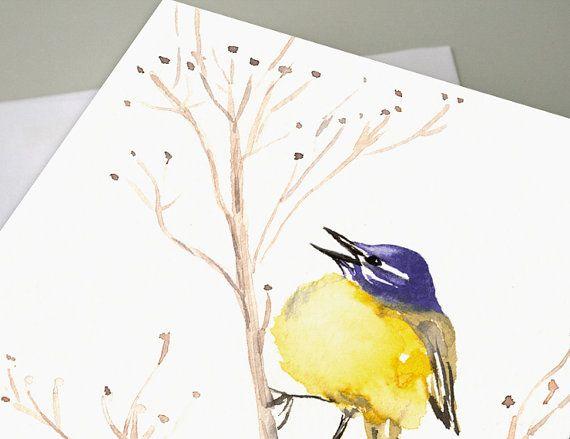 Greeting Card  Yellow Wagtail Wildlife Bird by BrazenDesignStudio, $5.00
