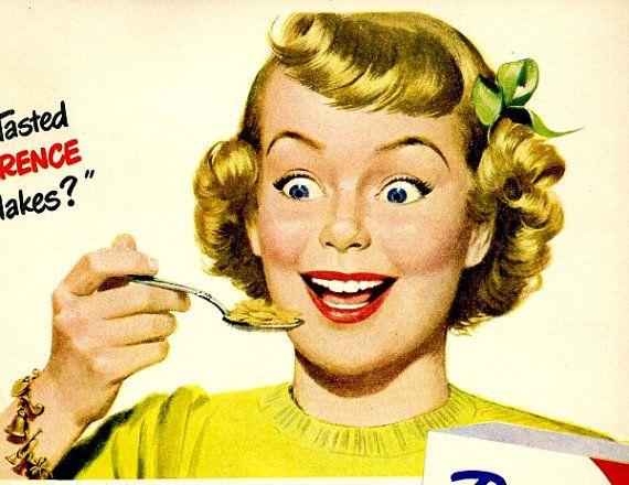 vintage corn flakes post toasties 1947 advertisement