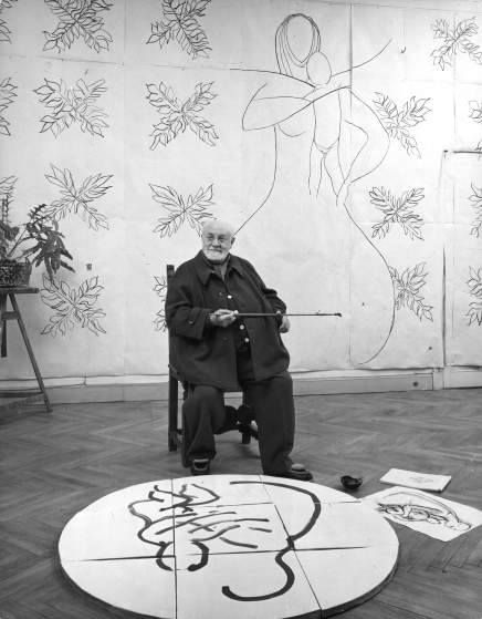 Henri Matisse surrounded by his work in his studio on the French Riviera, 1951. (Dmitri Kessel—The LIFE Picture Collection/Getty Images)
