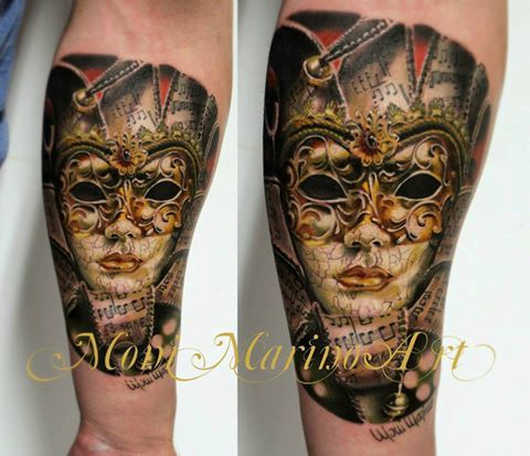 Venetian Mask Tattoo Gorgeous tattoos by moni