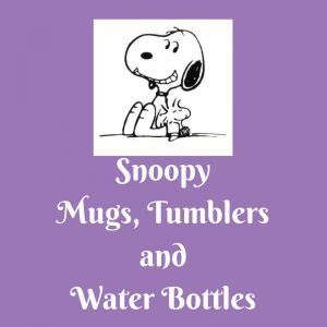List of Snoopy Mugs, Tumblers and Water Bottles Do you love Snoopy?  I do!  Whenever I see something with Snoopy on it, I can't help but smile.  If Snoopy makes you smile too, you will enjoy checking out this list of Snoopy mugs, tumblers and water bottles.  There is one for grandma, for mom, for your Valentine, for encouragement, for Christmas and so many more!