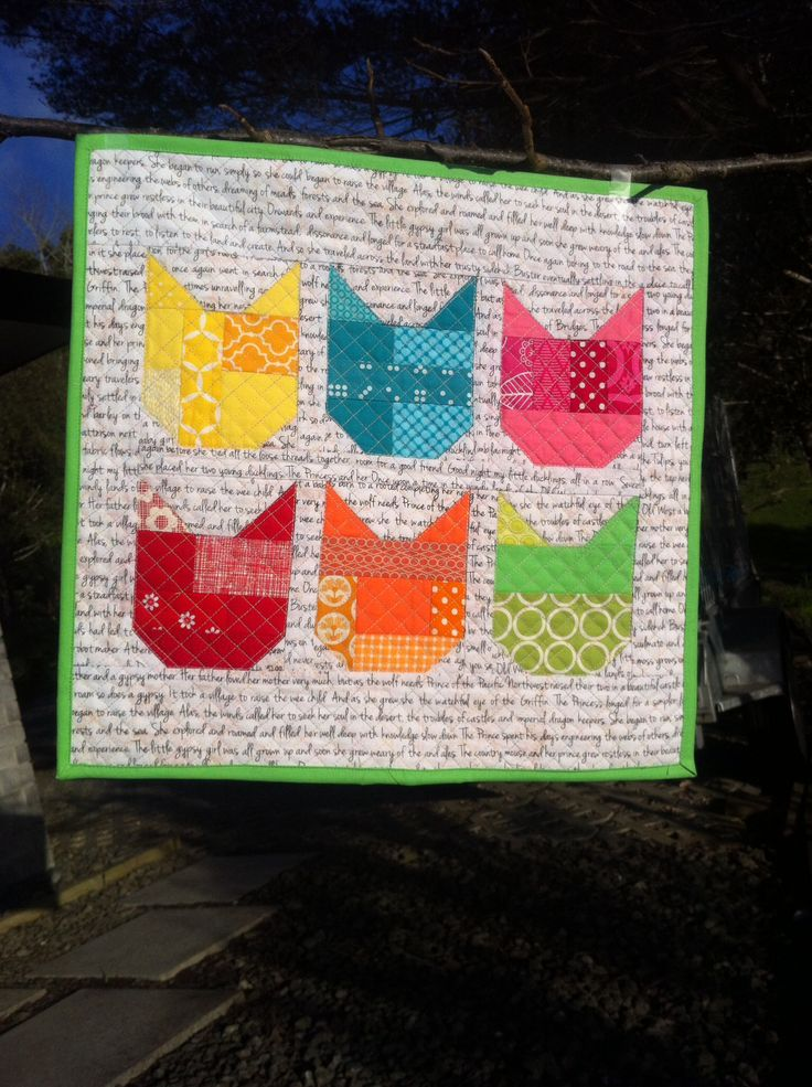 Another Oh Fransson pattern used as a mini quilt. Love her patterns.